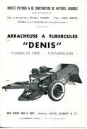 """17.LA ROCHELLE.ARRACHEUSE A TUBERCULES """"DENIS"""" POMMES DE TERRE & TOPINAMBOURS.S.E.C.O.M.A.T. 24 AVENUE DE L'OPERA.PARIS. - Vieux Papiers"""