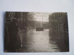 Vallée De La Meuse - Amay - Inondations Au 1er Janvier 1926 - Rue De La Gare - Animée - Carte Photo 19?? - Amay