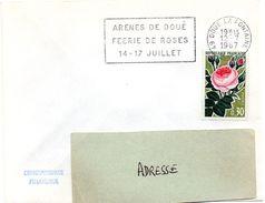 MAINE Et LOIRE - Dépt N° 49 = DOUE La FONTAINE 1967 = FLAMME CONCORDANTE N° 1357 = SECAP  ' ARENES / FEERIE De ROSES ' - Marcophilie (Lettres)