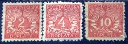 Polen 1919, Poland, Polska, Pologne, Port, Tax, Taxe, SG D128, D129, D131 - Strafport