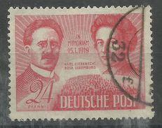 """Sowjetische Zone 229 """"24 Pfennig-Marke Aus Satz Zum 30. Todestag Karl Liebknecht U. R. Luxemburg"""" Gestempelt Mi.:1,50 € - Zona Soviética"""