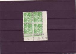 N° 1231 - 0,10F PAYSANNE - G De G+H - 9 Tirage Du 5.3.62 Au 7.5.62 - 30.03.1962 - - Coins Datés