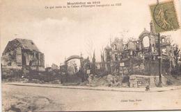 Montdidier En 1919 Ce Qui Reste De La Caisse D'épargne Inaugurée En 1913 - Guerre 1914-18