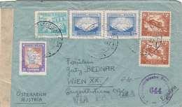 BOLIVIEN 1947 - 6 Fach Frankierung Auf Zensurierten LP-Brief Gel.v. Tarija/Bolivien > Wien XX - Bolivien