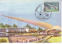 Carte Max 1048 Exposition 1958 - Maximumkarten (MC)