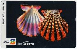 ISRAEL B-180 Hologram Bezeq - Animal, Sea Life, Shell Skeleton - 211C - Used - Israel