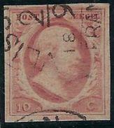 Pays Bas N° 2 Oblitéré Signé Roumet - Period 1852-1890 (Willem III)