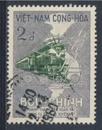 Vietnam Du Sud / South Vietnam 1959 Mi 189 YT 117 O Used - Diesetrain - Re-opening Trans-Vietnam Railway / Eisenbahn - Treinen