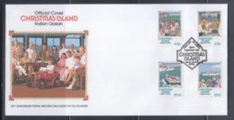 Christmas Island 1992 50th Anniv. Partial War-Time Evacuation FDC - Christmas Island