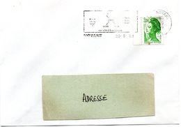 MAINE Et LOIRE - Dépt N° 49 = NOYANT 1989 = Flamme Type II = SECAP  Illustrée  D'ARMOIRIES + ' Forets - Falun ' - Postmark Collection (Covers)