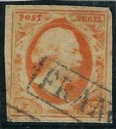Pays Bas N° 3 Oblitéré Signé Diena - Period 1852-1890 (Willem III)
