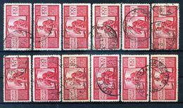 1945-48 Rep. It. 100 LIRE DEMOCRATICA LOTTO USATO - 6. 1946-.. Repubblica
