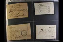 PRE-STAMP EUROPEAN POSTAL HISTORY 1740s-1860s COLLECTION Of Mostly Stampless Entires Or Covers, Majority Posted From Ger - Unclassified
