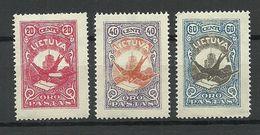 LITAUEN Lithuania 1926 Michel 243 - 245 * - Litauen