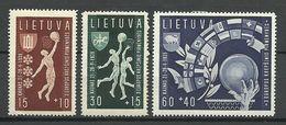 LITHUANIA Litauen 1939 Michel 429 - 431 * - Litauen