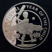 """JAMAICA 10 DOLLARS 1979 SILVER PROOF """"International Year Of The Child"""" Free Shipping Via Registered Air Mail - Jamaica"""