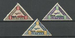 LITAUEN Lithuania 1922 Michel 118 - 120 * - Lithuania
