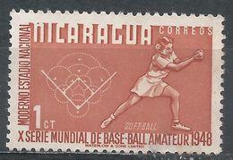 Nicaragua 1949. Scott #717 (U) Softball - Nicaragua