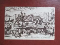 CPA 35 DOL DE BRETAGNE ILLUSTREE HOTEL ET RESTAURANT DE L'ARRIVEE - Dol De Bretagne