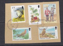 Falkland Islands 2002 5v Used On Papier Ca Stanley (37252) - Falklandeilanden
