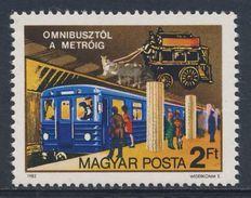 Hungary Ungarn 1982 Mi 3576 A ** Horse-drawn Bus + Underground Train / Pferdeomnibus, U-Bahn, Budapest - Postkoetsen