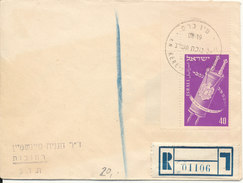 Israel Registered Cover 2-1-1952 Single Franked (hinged Marks On The Backside Of The Cover) - Israël