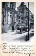 MADRID (Spanien) - Casa De La Villa (Ayuntamiento) Y Gobierno Civil, Alte Strassenbahn, Karte Gel.1901, Abgelöste Marke - Madrid