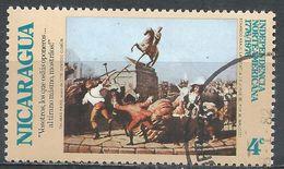 Nicaragua 1975. Scott #981 (U) Statue Of George III Demolished, American Bicentennial - Nicaragua