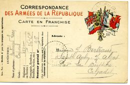 14 - SAINT AUBIN SUR ALGOT  ( CORRESPONDANCE DE GUERRE DU FRONT ) FAMILLE BERTRAND FRANCHISE MILITAIRE - Francia