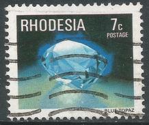 Rhodesia. 1978 Gemstones, Wild Animals And Waterfalls. 7c Used SG 559 - Rhodesia (1964-1980)