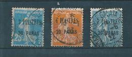 Colonie  Timbre Du Levant  De 1921/22 N°32 A 34  Oblitérés - Oblitérés