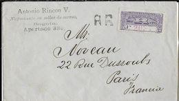 1917 - COLOMBIA - LETTRE RECOMMANDEE De BOGOTA => PARIS Avec CACHET MARITIME COLON à ST NAZAIRE N°1 AU DOS - Colombie