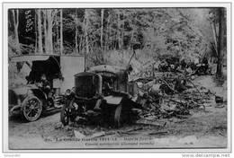 DANS LE FORET DE VILLERS OU VILLIERS ?????   CONVOI AUTOMOBILE ALLEMAND INCENDIE  SERIE LA GUERRE 1914-15 - Ausrüstung