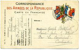 14 - SAINT AUBIN SUR ALGOT  ( CORRESPONDANCE DE GUERRE DU FRONT ) FAMILLE BERTRAND FRANCHISE MILITAIRE - Marcophilie (Lettres)