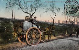 Thématiques Italie Italy Rome Roma Campagna Romana Carrettiere Da Vino Carriole Charette Cachet 1915 Timbre - Transports