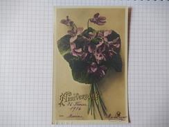 CPA - ANNIVERSAIRE - JOLI CARTE AVEC FLEURS - EDIT CROISSANT - 1916 - R10370 - Birthday