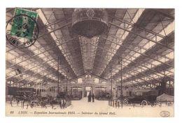 Lyon. Exposition Internationale 1914. Intérieur Du Grand Hall. Cachet Exposition Coloniale. (2217) - 1877-1920: Semi Modern Period