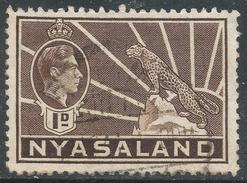 Nyasaland. 1938-44 KGVI. 1d Brown Used. SG 131 - Nyasaland (1907-1953)