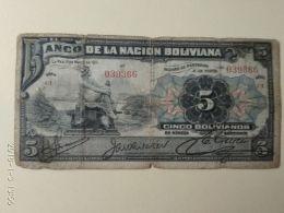 5 Bolivianos 1911 - Bolivia