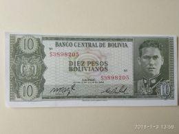 10 Bolivianos 1962 - Bolivia