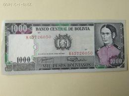 1000 Bolivianos 1982 - Bolivia