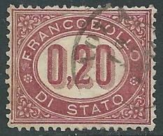 1875 REGNO USATO SERVIZIO DI STATO 20 CENT - I29-4 - 1861-78 Vittorio Emanuele II