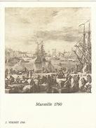 Menu Bateau Paquebot RENAISSANCE Illustration Marseille 1760 J. Vernet - Barcos