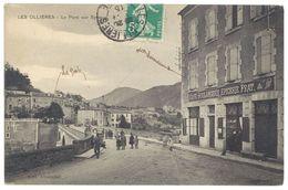 Cpa Ardèche, Les Ollières - Le Pont Des Eyrieux ( Animée, Café, Boulangerie, épicerie Prat ) - Other Municipalities