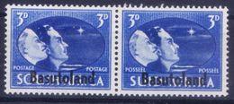 Basutoland 1945 MNH Bilingual Pair, Overprints, - Histoire