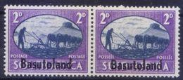 Basutoland 1945 MNH Bilingual Pair, Overprints, Agriculture - Histoire