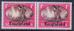 Basutoland 1945 MNH Bilingual Pair, Overprints, Victory, Flag - Histoire