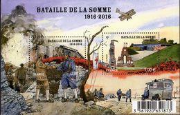 """Le Feuillet F5075 """"PREMIERE GUERRE MONDIALE. CENTENAIRE DE LA BATAILLE DE LA SOMME"""" Luxe Bas Prix, A SAISIR. - Feuilles Complètes"""