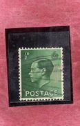 GREAT BRITAIN GRAN BRETAGNA 1936 KING EDWARD VIII HALF PENNY 1/2p USATO USED OBLITERE' - Usati