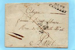 P.57 P. CAMBRAY,33X9mm + P.P.,variété 1793,L.S.C. - Marcophilie (Lettres)